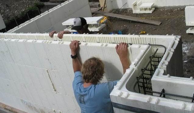 Foam building blocks for house construction