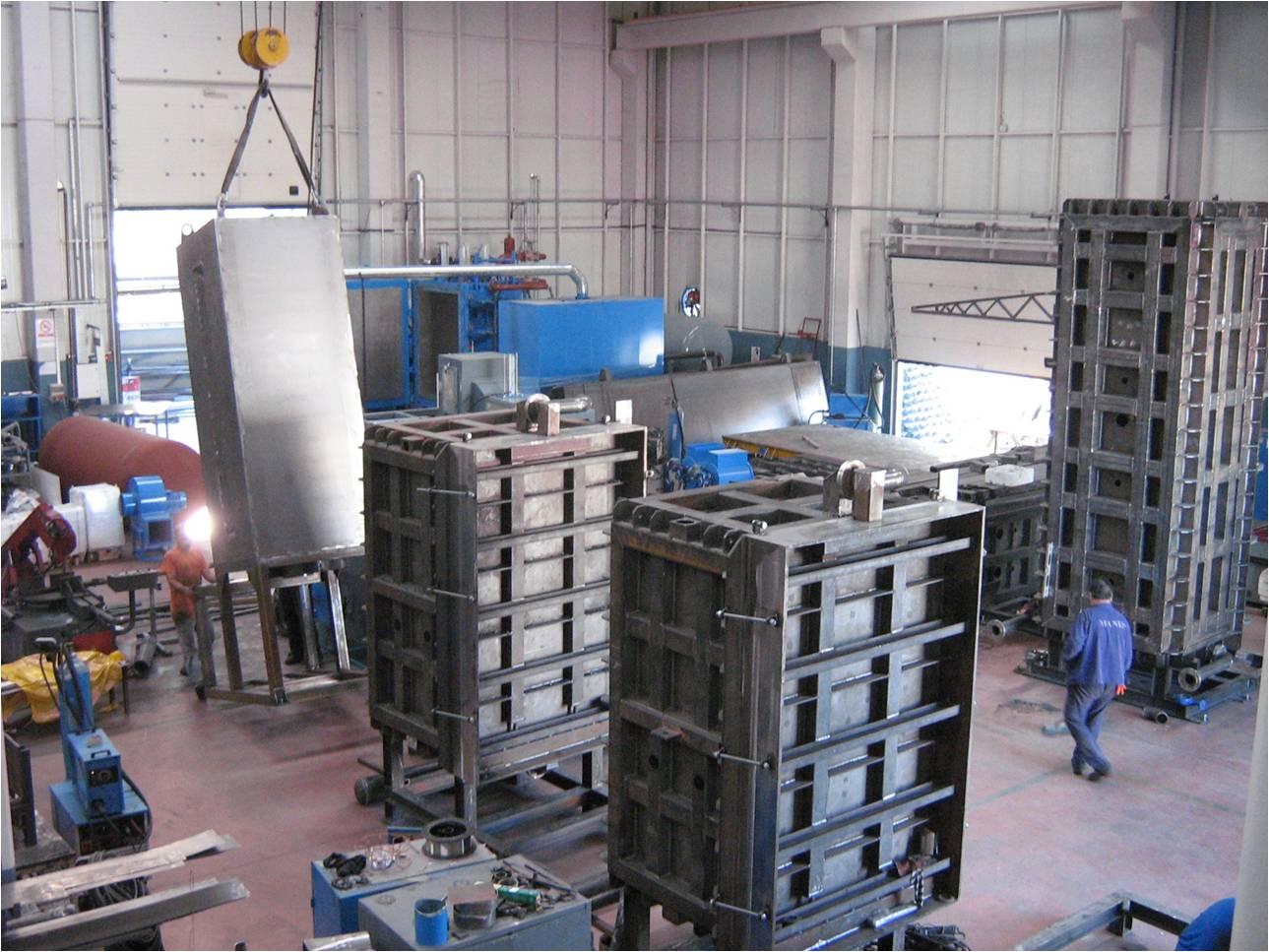 vertical block molding machine
